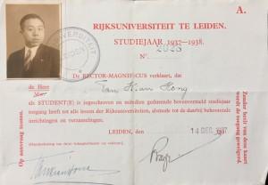 collegekaart 1937-1938